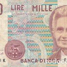 Billetes extranjeros: ITALIA- 1000 LIRAS. Lote 109013935