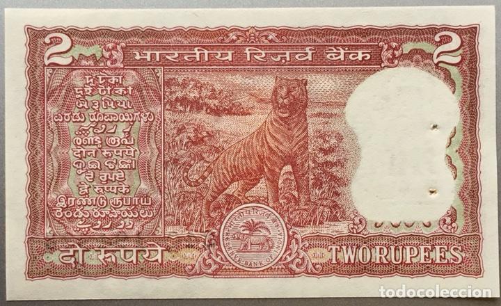 INDIA. 2 RUPIAS (Numismática - Notafilia - Billetes Extranjeros)