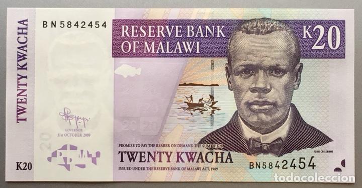 Billetes extranjeros: Malawi. 20 Kwacha - Foto 2 - 109149204