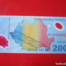Billetes extranjeros: RUMANIA. BILLETE DE 2000 LEI. 1999. Lote 109248471