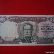 Billetes extranjeros: URUGUAY. BILLETE DE 1000 PESOS. 1967. Lote 109334679