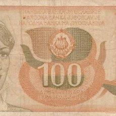 Billetes extranjeros: YUGOSLAVIA- 100 DINARA- 1990. Lote 109361147