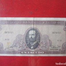 Billetes extranjeros: CHILE. BILLETE DE 1 ESCUDO 1962. Lote 109468103