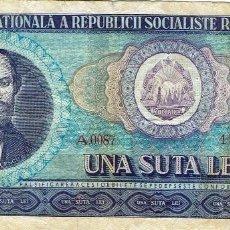 Billetes extranjeros: UNA SUTA LEI-ROMANIA. Lote 110471651