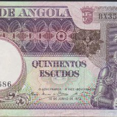 Billetes extranjeros: BILLETES - ANGOLA - 500 ESCUDOS 1973 - SERIE BY43665 - PICK-107 (EBC). Lote 110501159