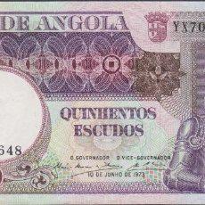 Billetes extranjeros: BILLETES - ANGOLA - 500 ESCUDOS 1973 - SERIE YL52004 - PICK-107 (SC-). Lote 110501231