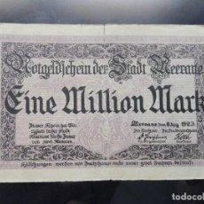 Billetes extranjeros: ALEMANIA 1 MILLON MARCOS, MEERANE 8-8-1923. Lote 110707979