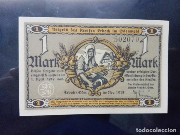 ALEMANIA NOTGELD 1 MARCO, ERBALCH 1-4-1919 (SC) (Numismática - Notafilia - Billetes Extranjeros)