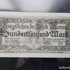 Billetes extranjeros: ALEMANIA 100000 MARCOS 8-8-1923 MEERANE. Lote 110718779