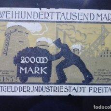 Billetes extranjeros: ALEMANIA 200000 MARCOS 10-8-1923. Lote 110720651