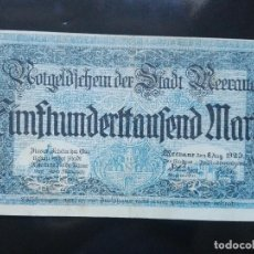 Billetes extranjeros: ALEMANIA 500000 MARCOS, MEERANE 8-8-1923. Lote 110720995