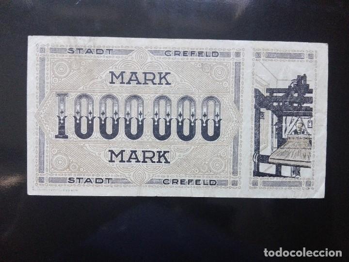 Billetes extranjeros: Alemania 1 millón marcos, Crefeld 1-8-1923 - Foto 2 - 110722579