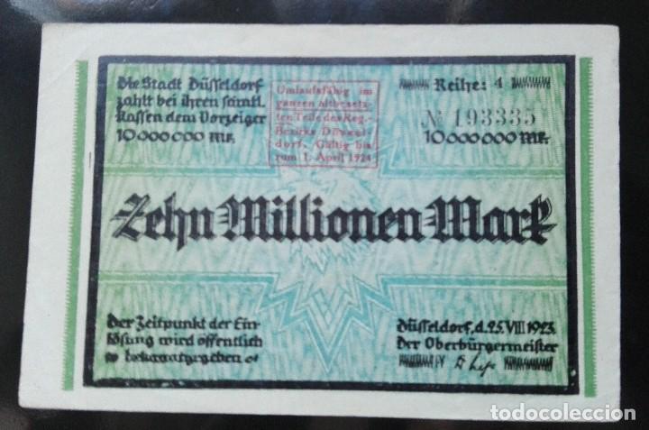 ALEMANIA 10 MILLONES MARCOS, DUSSELDORF 25-7-1923 (Numismática - Notafilia - Billetes Extranjeros)