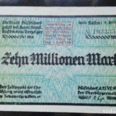Billetes extranjeros: ALEMANIA 10 MILLONES MARCOS, DUSSELDORF 25-7-1923. Lote 110789003