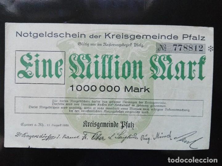 ALEMANIA 1 MILLÓN MARCOS 11-8-1923 (Numismática - Notafilia - Billetes Extranjeros)