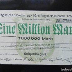 Billetes extranjeros: ALEMANIA 1 MILLÓN MARCOS 11-8-1923. Lote 110790027
