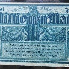 Billetes extranjeros: ALEMANIA 2 MILLONES MARCOS , BREMEN 17-8-1923. Lote 110791311