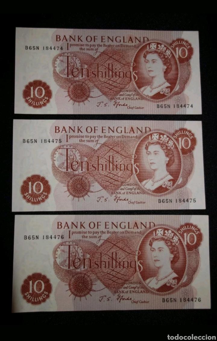 TRÍO CORRELATIVO 10 CHELINES BANCO DE INGLATERRA, REINO UNIDO / 10./ BANK OF ENGLAND, UK 1967 (Numismatik - Notaphilie - Internationale Banknoten)
