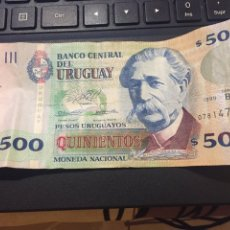 Billetes extranjeros: 500 PESOS URUGUAY. Lote 111635443