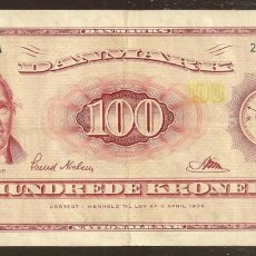 Billetes extranjeros: DINAMARCA. BONITO 100 KRONER (19)61. PICK 46 B. BUENA FECHA. SERIE A3.. Lote 112279030