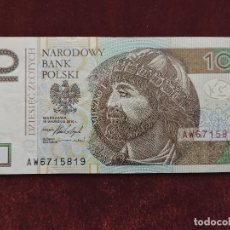 Billetes extranjeros: 10 ZLOTYCH / ZLOTYS 2016 POLONIA MBC / VF. Lote 112504591