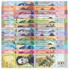 Billetes extranjeros: VENEZUELA FULL SET X 13 PIECES (PCS) 100000 BOLIVARES 2013-2017, P-NEW, UNC COLECCION COMPLETA. Lote 127642484