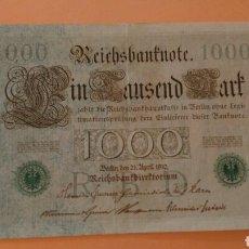 Billetes extranjeros: PRECIOSO Y GRAN BILLETE ALEMAN DE 1000 MARCOS, AÑO 1910. Lote 112860907