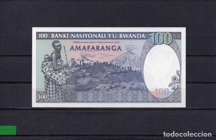 Billetes extranjeros: RWANDA 1989, 100 FRANCS, P-19a, SC-UNC, 2 ESCANER - Foto 2 - 113047631