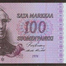 Billetes extranjeros: FINLANDIA. 100 MARKKAA 1976. PICK 109 R1. S/C. SUFIJO ESTRELLA - REPOSICION.. Lote 113211438