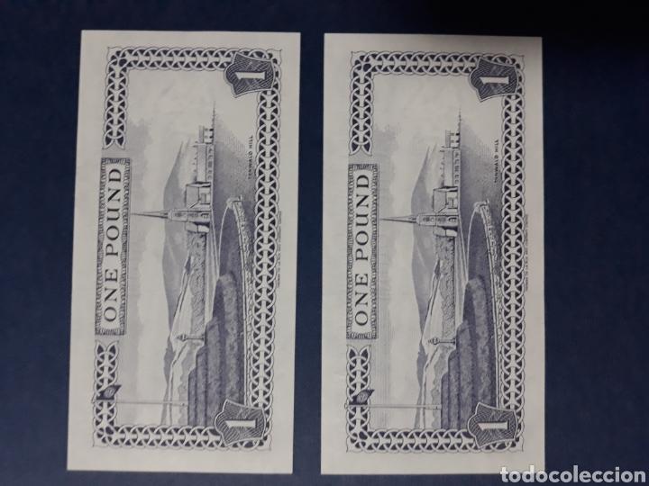 Internationale Banknoten: Isla de Man Pareja correlativa serie AA Sin Circular - Foto 3 - 113348395