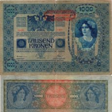 Billetes extranjeros: AUSTRIA 1902 IMPERIO AUSTRO HUNGARO 1000 KRONEN . Lote 114018895