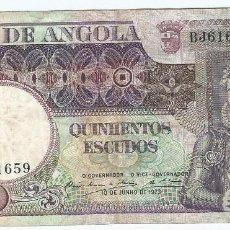 Billetes extranjeros: ANGOLA 500 ESCUDOS 1973 PICK 107. Lote 114036219