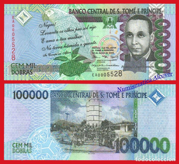 SANTO TOME PRINCIPE SAO TOME 100000 DOBRAS 2005 PICK 69A - SC (Numismática - Notafilia - Billetes Extranjeros)
