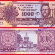 Billetes extranjeros: PARAGUAY 1000 GUARANIES 2005 PICK 222B SC . Lote 114465527