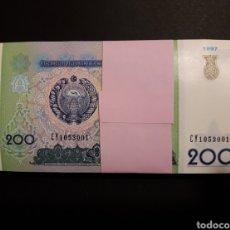 Billetes extranjeros: UZBEKISTÁN - 100 BILLETES DE 200 SOM UNC. ENVÍO ORDINARIO GRATIS.. Lote 114483280