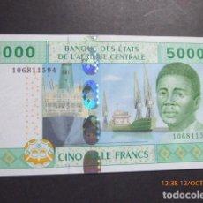 Billetes extranjeros: ESTADOS DEL AFRICA CENTRAL, 5,000 FRANCOS, A, GABON, . Lote 114778439