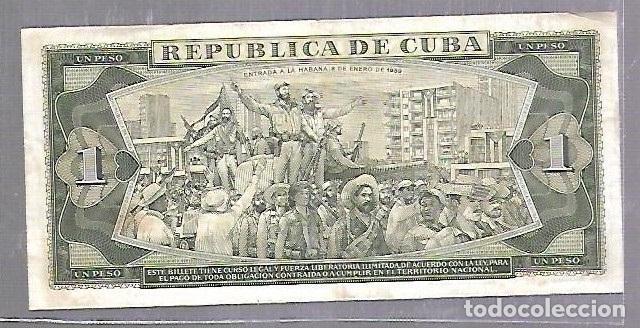 Billetes extranjeros: BILLETE. BANCO NACIONAL DE CUBA. UN PESO. 1982. REPUBLICA DE CUBA. VER - Foto 2 - 114954783