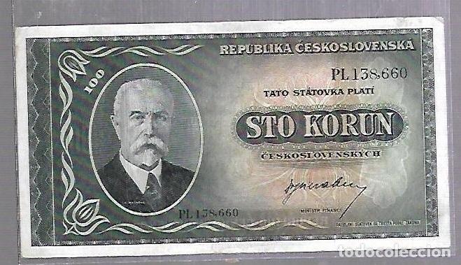 BILLETE. CHECOSLOVAQUIA. 100 CORONAS. STO KORUN. VER (Numismática - Notafilia - Billetes Extranjeros)