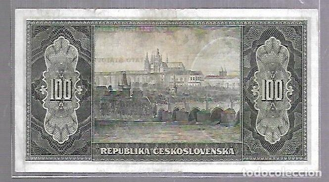 Billetes extranjeros: BILLETE. CHECOSLOVAQUIA. 100 CORONAS. STO KORUN. VER - Foto 2 - 114979547