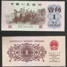 Billetes extranjeros - CHINA 1 JIAO 1962 PICK 877f - S/C - 115017679