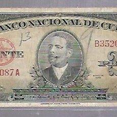 Billetes extranjeros: BILLETE. BANCO NACIONAL DE CUBA. 20 PESOS. 1949. REPUBLICA DE CUBA. VER. Lote 115064439
