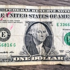 Billetes extranjeros: BILLETE 1 DÓLAR 2009. Lote 115162292