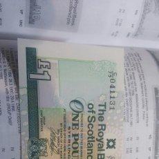Billetes extranjeros: SCOTLAND 1 POUND 1999 SC KM351D. Lote 115381598