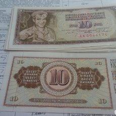 Billetes extranjeros: YUGOSLAVIA 10 DINARA 1968 SC KM82. Lote 243813935