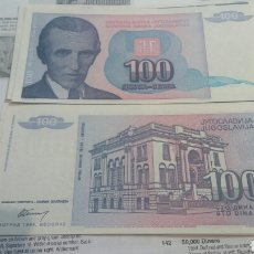 Billetes extranjeros: YUGOSLAVIA 100 DINARA 1994 SC KM139. Lote 115384694