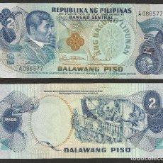 Billetes extranjeros: FILIPINAS 2 PESOS 1970 PICK 152 - S/C. Lote 115491907