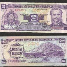 Billetes extranjeros: HONDURAS 2 LEMPIRAS 1976 PICK 61 - S/C. Lote 115499331