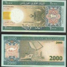Billetes extranjeros: MAURITANIA 2000 OUGUIYA 2004 PICK 14A- S/C. Lote 115556655