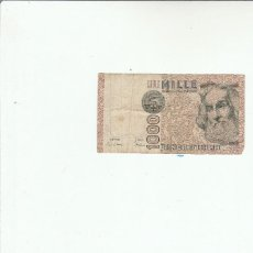 Billetes extranjeros: ITALIA- 1000 LIRAS- 1982. Lote 116266687