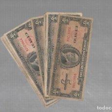Billetes extranjeros: LOTE DE 10 BILLETES. BANCO NACIONAL DE CUBA. 5 PESOS. 1949.. Lote 178592511